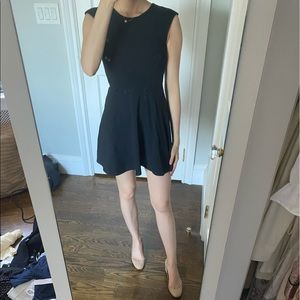 Aritizia Black Cutout Cotton Mini Dress